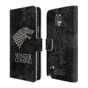 Official HBO Game Of Thrones Dark Distressed Sigils Stark Leather Book Wallet Case Cover For Samsung Galaxy Note 4