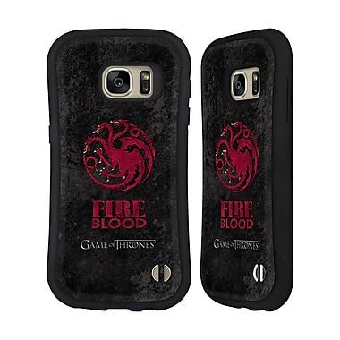 Official HBO Game Of Thrones Dark Distressed Sigils Targaryen Hybrid Case For Samsung Galaxy S7