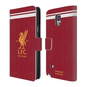 Official Liverpool Football Club Kit 2017/18 Liver Bird Home Shirt Leather Book Wallet Case Cover For Samsung Galaxy Note 4