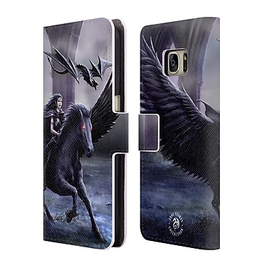 Official Anne Stokes Mythical Creatures Real Of Darkness Leather Book Wallet Case Cover For Samsung Galaxy S7