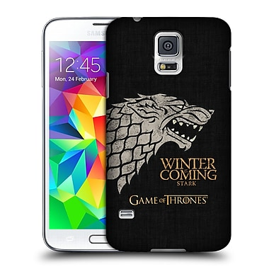 Official HBO Game Of Thrones House Mottos Stark Hard Back Case For Samsung Galaxy S5 / S5 Neo