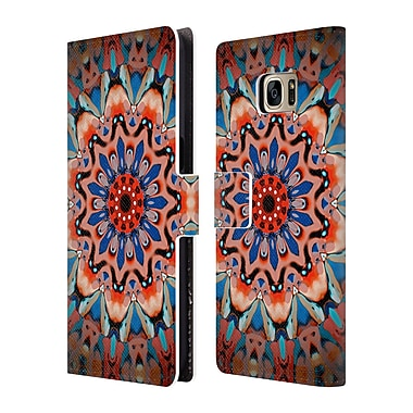 Official Monika Strigel Mandala Aztec Leather Book Wallet Case Cover For Samsung Galaxy S7 Edge