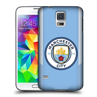 Official Manchester City Man City Fc Badge Kit 2017/18 Home Hard Back Case For Samsung Galaxy S5 / S5 Neo