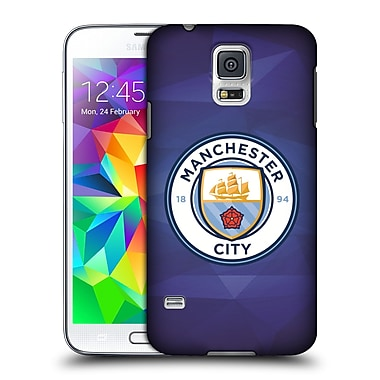Official Manchester City Man City Fc Badge Geometric Obsidian Full Colour Hard Back Case For Samsung Galaxy S5 / S5 Neo
