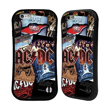 Official AC/DC Acdc Collage Album Art Hybrid Case For Apple Iphone 6 / 6S