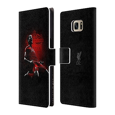 Official Liverpool Football Club Red Pride Countinho Leather Book Wallet Case Cover For Samsung Galaxy S7 Edge