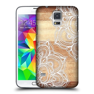 Official Micklyn Le Feuvre On Wood Mandala Hard Back Case For Samsung Galaxy S5 / S5 Neo