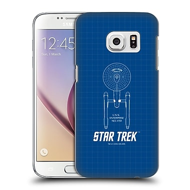 Official Star Trek Ships Of The Line Tos Uss Enterprise Ncc-1701 Hard Back Case For Samsung Galaxy S7