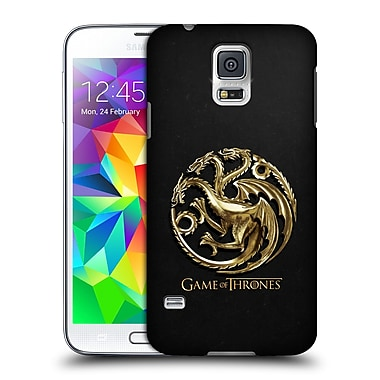 Official HBO Game Of Thrones Embossed Sigils Gold Targaryen Hard Back Case For Samsung Galaxy S5 / S5 Neo