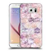 Official Micklyn Le Feuvre Marble Patterns Rose Quartz And Amethyst Stone And Hexagon Tile Hard Back Case For Samsung Galaxy S6