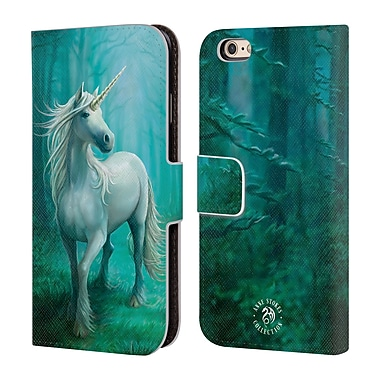 Official Anne Stokes Mythical Creatures Forest Unicorn Leather Book Wallet Case Cover For Apple Iphone 6 / 6S