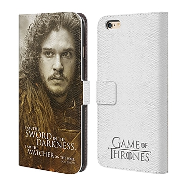 Official HBO Game Of Thrones Character Portraits Jon Snow Leather Book Wallet Case Cover For Apple Iphone 6 Plus / 6S Plus