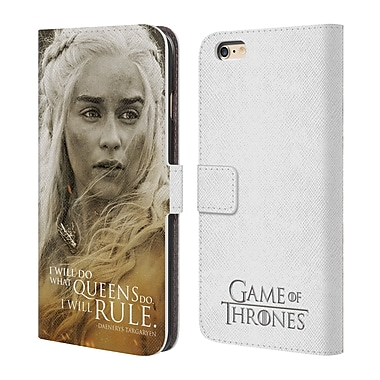 HBO Game Of Thrones Character Portraits Daenerys Targaryen Leather Book Wallet Case Cover For Apple Iphone 6 Plus / 6S Plus