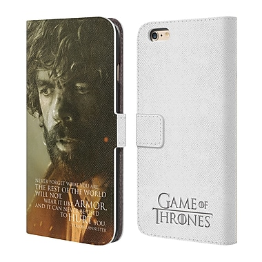 HBO Game Of Thrones Character Portraits Tyrion Lannister Leather Book Wallet Case Cover For Apple Iphone 6 Plus / 6S Plus