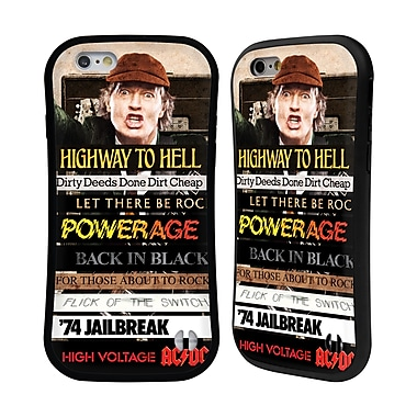 Official AC/DC Acdc Collage Album Titles Hybrid Case For Apple Iphone 6 / 6S