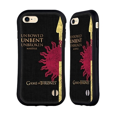 Official HBO Game Of Thrones House Mottos Martell Hybrid Case For Apple Iphone 7 / 8