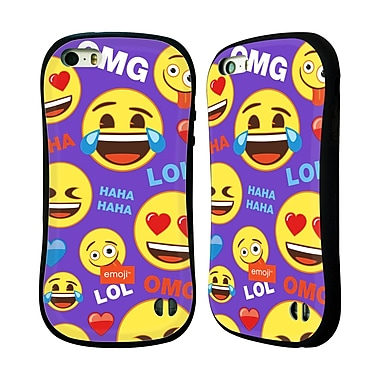 Official Emoji Flat Happy Faces Hybrid Case For Apple Iphone 5 / 5S / Se