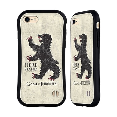 Official HBO Game Of Thrones House Mottos Mormont Hybrid Case For Apple Iphone 7 / 8