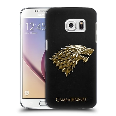 Official HBO Game Of Thrones Embossed Sigils Gold Stark Hard Back Case For Samsung Galaxy S7