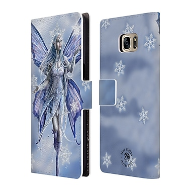 Official Anne Stokes Yule Snow Fairy Leather Book Wallet Case Cover For Samsung Galaxy S7 Edge