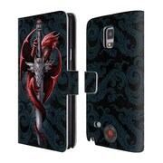Official Anne Stokes Dragons Dagger Leather Book Wallet Case Cover For Samsung Galaxy Note 4