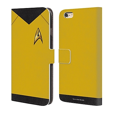 Official Star Trek Uniforms And Badges Tos Command Leather Book Wallet Case Cover For Apple Iphone 6 Plus / 6S Plus