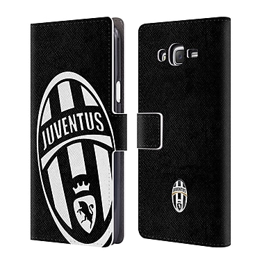 Official Juventus Football Club Crest Mono Logo Leather Book Wallet Case Cover For Samsung Galaxy J7