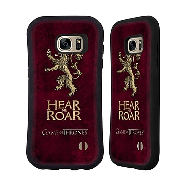 Official HBO Game Of Thrones Dark Distressed Sigils Lannister Hybrid Case For Samsung Galaxy S7 Edge