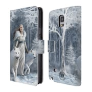 Official Anne Stokes Wolves Winter Guardians Leather Book Wallet Case Cover For Samsung Galaxy Note 4