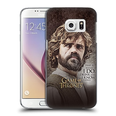 Official HBO Game Of Thrones Character Quotes Tyrion Lannister Hard Back Case For Samsung Galaxy S7