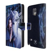 Official Anne Stokes Unicorns 2 Solace Leather Book Wallet Case Cover For Samsung Galaxy Note 4