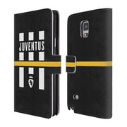 Official Juventus Football Club Lifestyle Logo Explosion Black Leather Book Wallet Case Cover For Samsung Galaxy Note 4