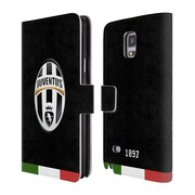 Official Juventus Football Club Crest Italia Black Leather Book Wallet Case Cover For Samsung Galaxy Note 4
