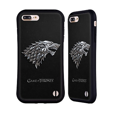 Official HBO Game Of Thrones Sigils Silver Stark Hybrid Case For Apple Iphone 7 Plus / 8 Plus