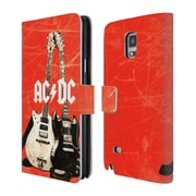 Official AC/DC Acdc Iconic Rock Guitars Leather Book Wallet Case Cover For Samsung Galaxy Note 4