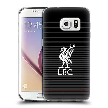 Official Liverpool Football Club Liver Bird White On Black Kit Soft Gel Case For Samsung Galaxy S7