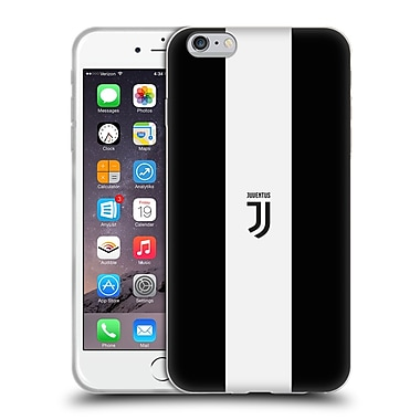Official Juventus Football Club Lifestyle 2 Bold White Stripe Soft Gel Case For Apple Iphone 6 Plus / 6S Plus