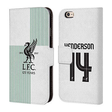 Liverpool Football Club Players Away Kit 17/18 Group 1 Jordan Henderson Leather Book Wallet Case Cover For Apple Iphone 6 / 6S