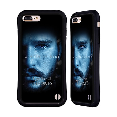 Official HBO Game Of Thrones Winter Is Here Jon Snow Hybrid Case For Apple Iphone 7 Plus / 8 Plus