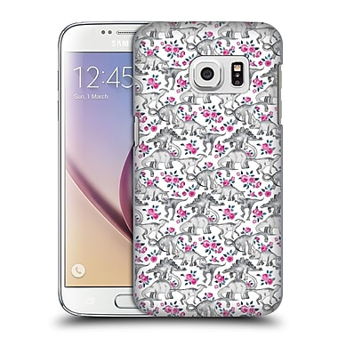 Official Micklyn Le Feuvre Animals Dinosaurs And Roses Hard Back Case For Samsung Galaxy S7