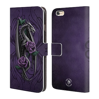 Official Anne Stokes Dragons 3 Beauty 1 Leather Book Wallet Case Cover For Apple Iphone 6 Plus / 6S Plus