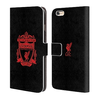 Official Liverpool Football Club Crest 1 Black 2 Leather Book Wallet Case Cover For Apple Iphone 6 Plus / 6S Plus