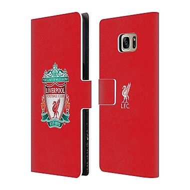 Official Liverpool Football Club Crest 1 Red 1 Leather Book Wallet Case Cover For Samsung Galaxy S7 Edge