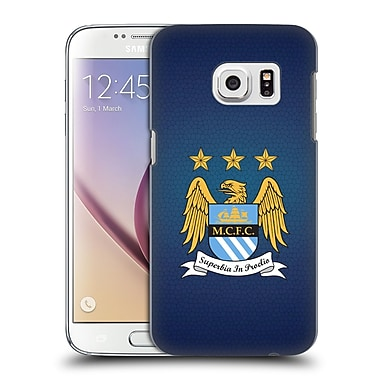 Official Manchester City Man City Fc Crest Pixels Full Colour Obsidian Mosaic Hard Back Case For Samsung Galaxy S7