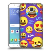 Official Emoji Flat Happy Faces Hard Back Case For Samsung Galaxy J7