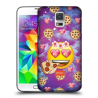 Official Emoji Smileys Pizza Love Hard Back Case For Samsung Galaxy S5 / S5 Neo