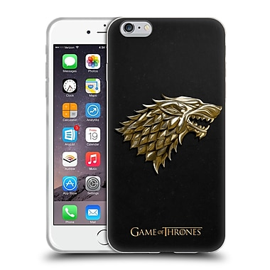 Official HBO Game Of Thrones Sigils Gold Stark Soft Gel Case For Apple Iphone 6 Plus / 6S Plus