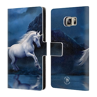 Official Anne Stokes Mythical Creatures Moonlight Unicorn Leather Book Wallet Case Cover For Samsung Galaxy S6 Edge+ / Plus