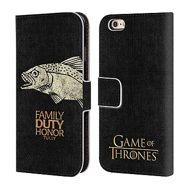 Official HBO Game Of Thrones House Mottos Tully Leather Book Wallet Case Cover For Apple Iphone 6 / 6S