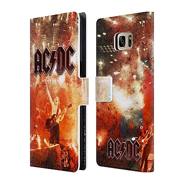 Official AC/DC Acdc Album Art Live At River Plate Leather Book Wallet Case Cover For Samsung Galaxy S7 Edge